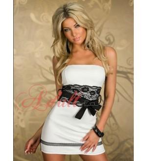 Večerní šaty black & white