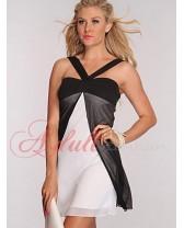 Černobílé plážové šaty Gisel