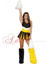 Kostým sexy roztleskávačka yellow-black